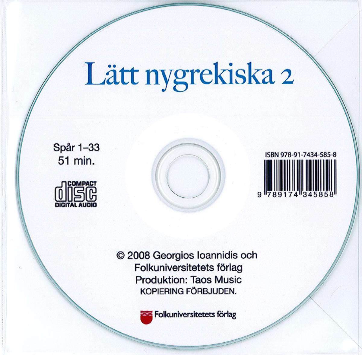 Lätt nygrekiska 2 cd
